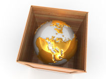 Earth in crate Royalty Free Stock Images