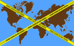 Earth Crime Scene Do Not Cross Stock Image