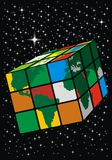 Earth cube Stock Photography