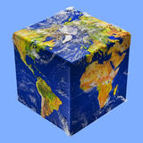 Earth cube box Royalty Free Stock Photo