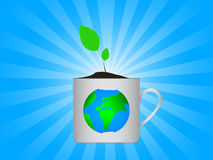Earth in cup Royalty Free Stock Images