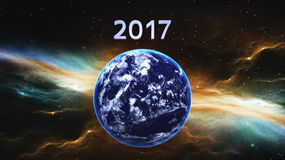 2017 and the earth Stock Photos