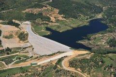 Earth dam fiilng rock barrage Stock Photography