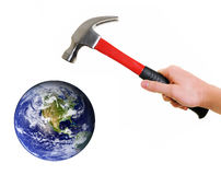 Earth in danger Stock Photo