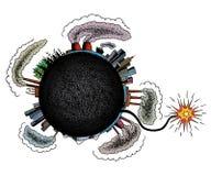 Earth is in danger! stock illustration