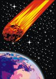 Earth and danger  form cosmos Stock Photos