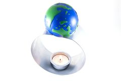 Earth in danger-global warm Royalty Free Stock Images