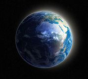 Earth at dawn stock illustration