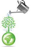 Earth Day. Raster version of vector illustration + EPS additional format Royalty Free Stock Image