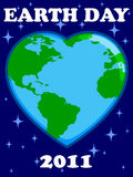 Earth Day 2011. An illustration of a heart shaped globed in celebration of Earth Day, 2011 vector illustration
