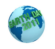 Earth day 2011. One 3d render to celebrate the Earth Day Royalty Free Stock Photos