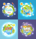 Earth Day 2017 Advertising Posters Collection Royalty Free Stock Photo