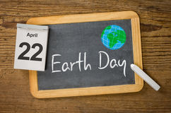 Earth Day 22 April. Earth Day on April 22 Royalty Free Stock Photo