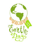 EARTH DAY. April 22. Planet Royalty Free Stock Photography