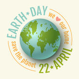 Earth day 22 april. Royalty Free Stock Photo