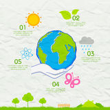 Earth Day background on crushed paper Royalty Free Stock Photo