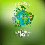 Earth Day background for environment symbols on clean earth Stock Photos