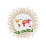 Earth Day background with the words, world map Royalty Free Stock Image