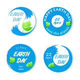 Earth Day badges set isolated Stock Images