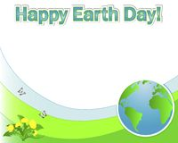 Earth Day banner with the globe. Stock Photo