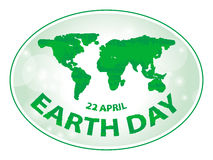 Earth day banner. Earth day green grunge banner background Stock Image