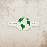 Earth Day Banner with Planet Stock Image