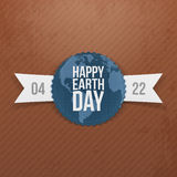 Earth Day Banner with Ribbon Stock Images