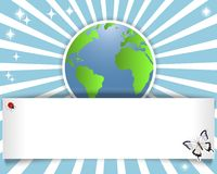 Earth Day. Banner with stickers of the globe. Stock Photos