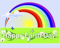 Earth Day banner. Royalty Free Stock Photography