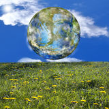 Earth day. Beautiful green planet Earth.Nature background Stock Photography