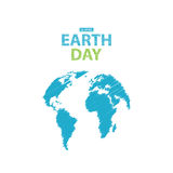 Earth Day in blue colors. Vector illustration. Pencil drawing ef Stock Photography