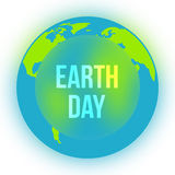 Earth Day in blue and green colors. Vector Royalty Free Stock Images
