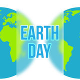 Earth Day in blue and green colors. Vector Royalty Free Stock Photography