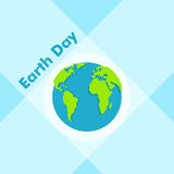 Earth Day in blue. Vector illustration Royalty Free Stock Image