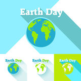 Earth Day in blue. Vector illustration Stock Images
