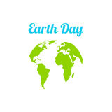 Earth Day in blue. Vector illustration Royalty Free Stock Photos