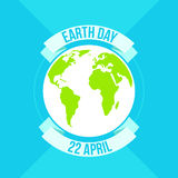 Earth Day in blue. Vector illustration Royalty Free Stock Photography
