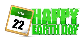 Earth day calendar april 22 Stock Photography