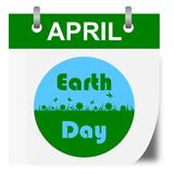 Earth Day Calendar - illustration Stock Photography
