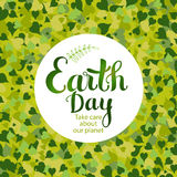 Earth day card Stock Image