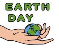 Earth Day card vector illustration