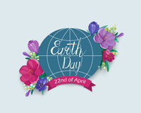 Earth Day card Stock Images