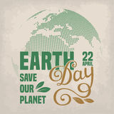 Earth Day Card Stock Photo