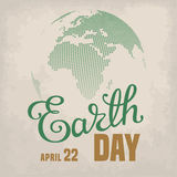 Earth Day Card Royalty Free Stock Photo