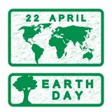 Earth Day card stock illustration