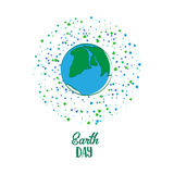 Earth Day cartoon card Stock Images