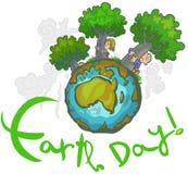 Earth day Cartoon. Royalty Free Stock Photos