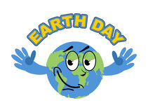 Earth Day. Cheerful Globe spread his arms in an embrace. Sweet E Stock Photo
