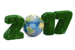 Earth Day 2017 concept, 3D rendering. On white background Stock Photography