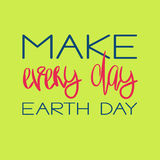 Earth Day Concept - Decorative handdrawn lettering Stock Image